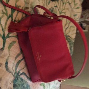 Kate Spade pink leather bag  gold hardware NWOT